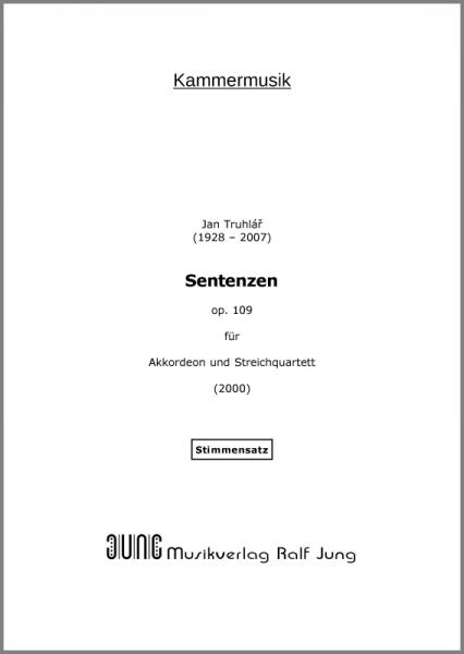 Sentenzen, op. 109 (Stimmen)