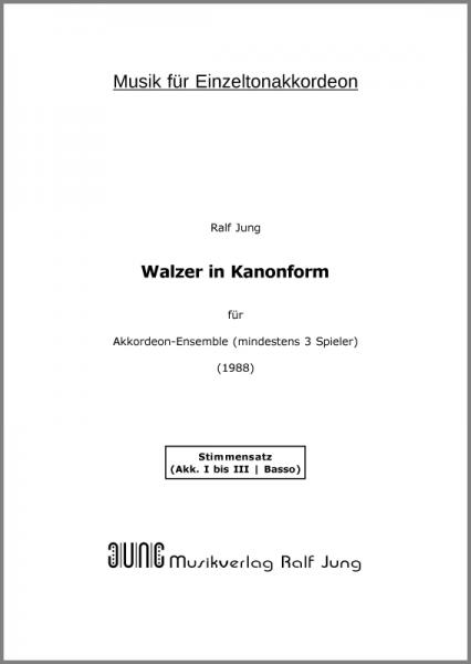 Walzer in Kanonform (Stimmen)