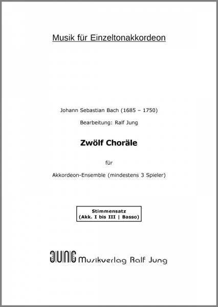 Zwölf Choräle (Stimmen)