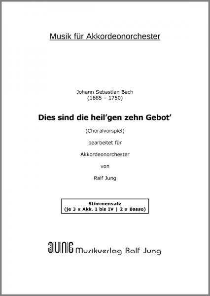 Dies sind die heil'gen zehn Gebot' (BWV 678) (Stimmensatz)