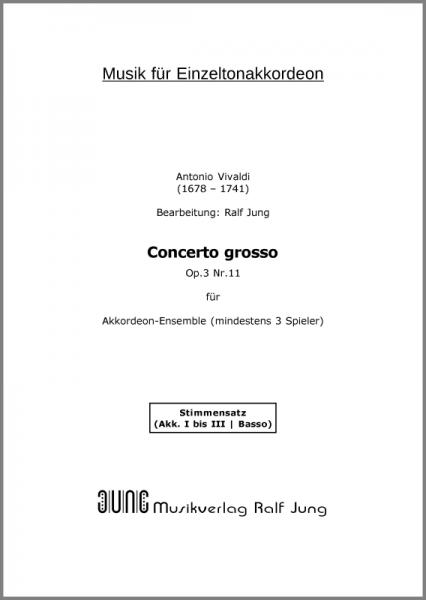Concerto grosso op. 3, Nr. 11 (Stimmen)