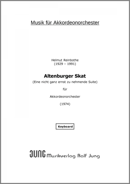 Altenburger Skat (Ergänzungsstimme Keyboard)