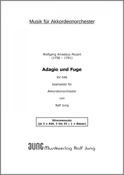 Adagio und Fuge (KV 546) (Stimmensatz, 13 Stimmen)