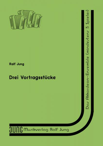 Drei Vortragsstücke (Partitur)