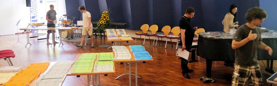 Notenausstellung beim Internationalen Seminar in Ottweiler (Saarland)