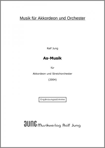 As-Musik (Orchester-Ergänzungsstimme)