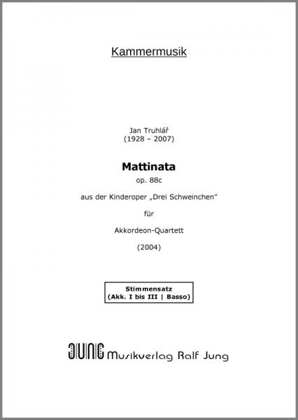 Mattinata, op. 88c (Stimmensatz)