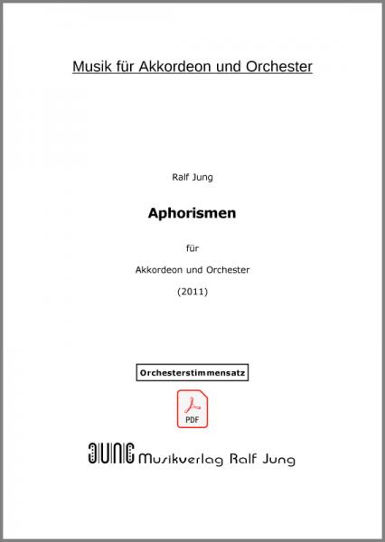 Aphorismen (Orchesterstimmensatz als pdf)