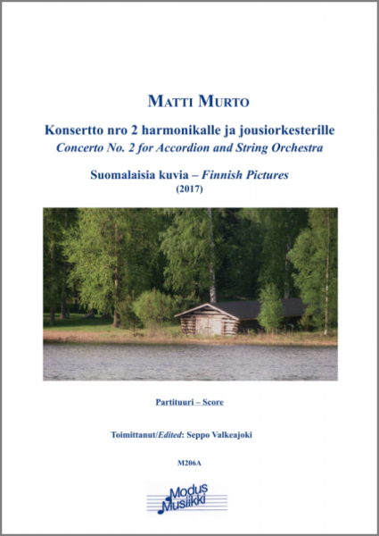 Concerto No. 2 for Accordion and String Orchestra (Partitur)