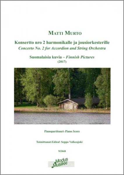 Concerto No. 2 for Accordion and String Orchestra (Klavierauszug)