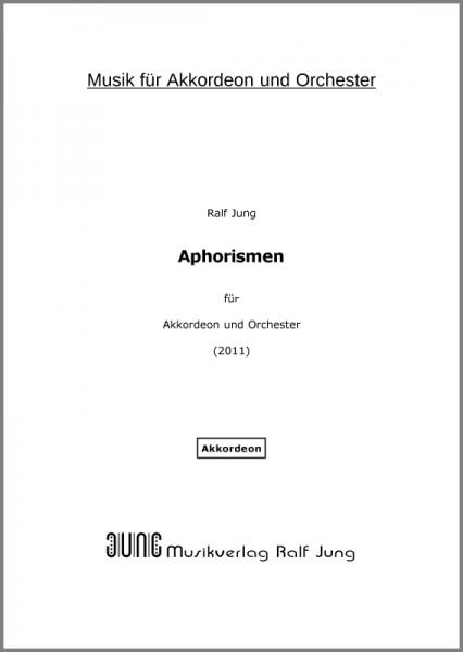 Aphorismen (Akkordeonstimme)